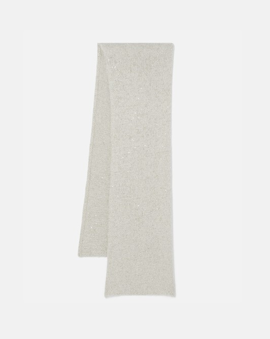 Sequin-embellished scarf - Naturel