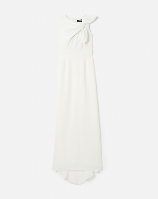 WOVEN DRESS - Off white