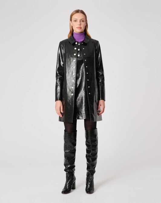 Manteau en vinyle - Noir