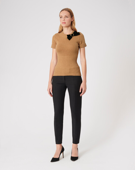 KNITTED SWEATER - Camel