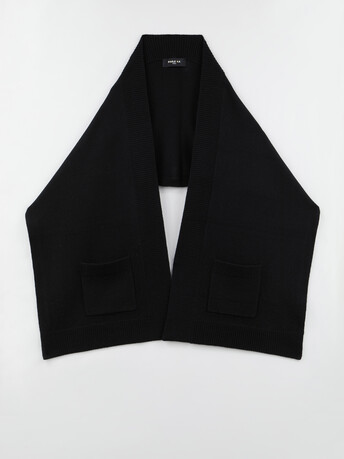 Wool and cashmere scarf - Noir