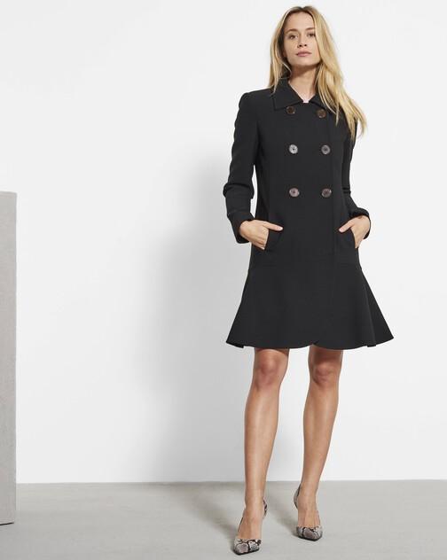 Stretch tricotine coat