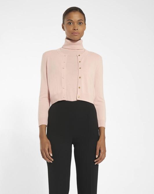 Cashmere wool cardigan - Rose pale