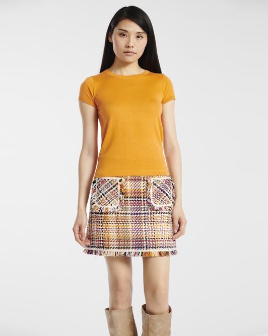 Cashmere silk sweater - tangerine