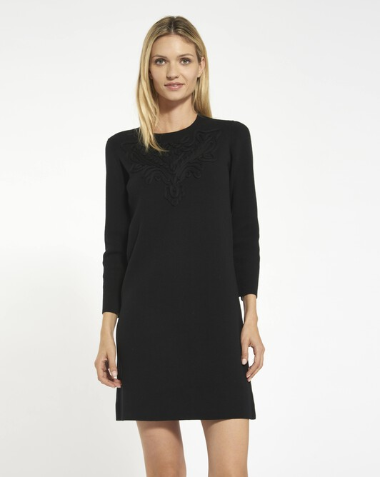 Cornely embroidery dress - Noir