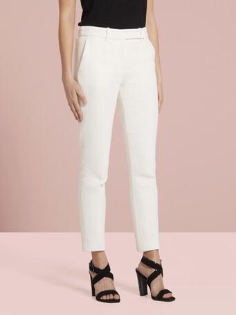 Cotton-gauze pants - White