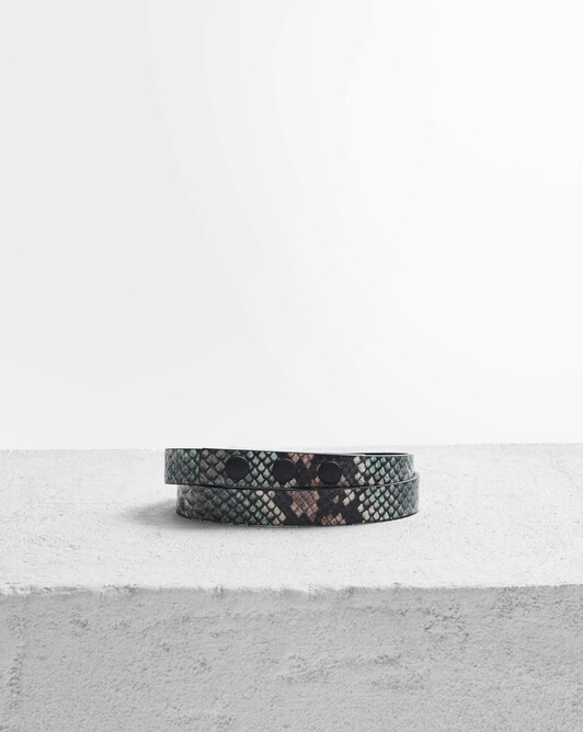 Leather belt - Tricolore