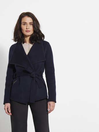Double-faced jacket - Navy blue