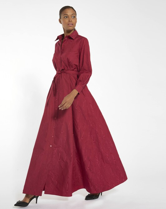 Moiré dress - Framboise