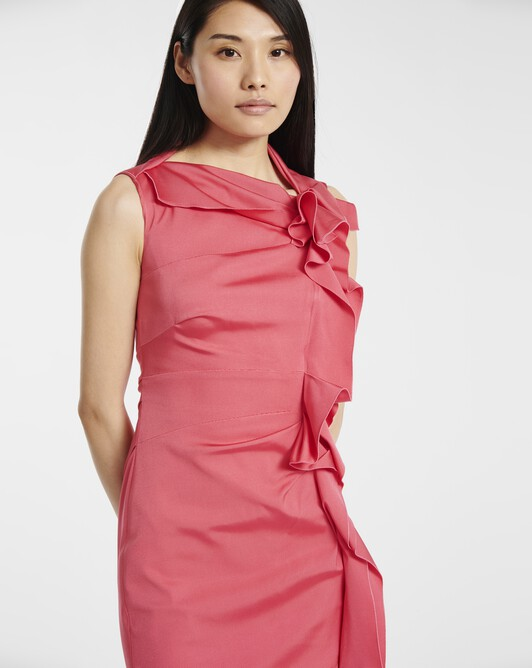 Dress in ottoman stretch - Pink