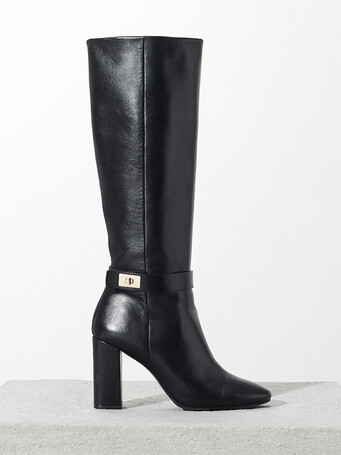 Nappa leather boots - Noir