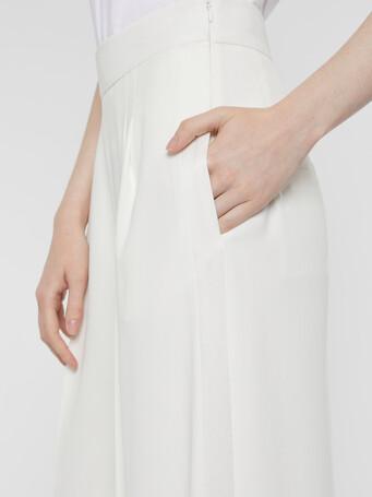 Pantalon en crêpe envers satin - Blanc casse