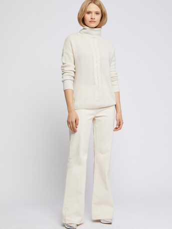 KNITTED SWEATER - Off white