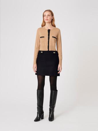 Wool skirt - Noir