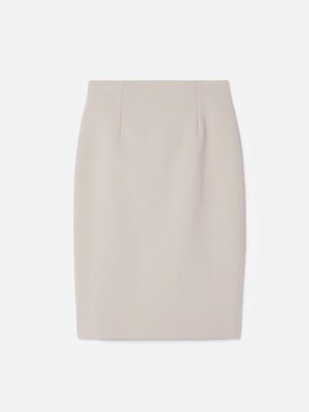 Stretch tricotine skirt - Mastic