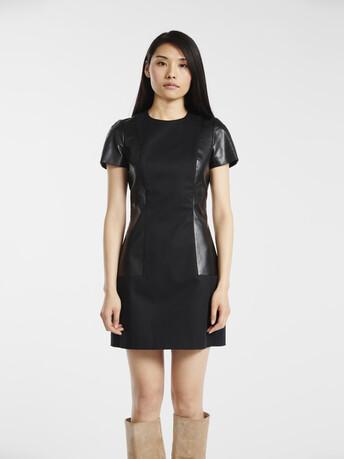 Dress in stretch-cotton gabardine - Noir