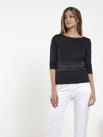 Haut en jersey de coton - Noir