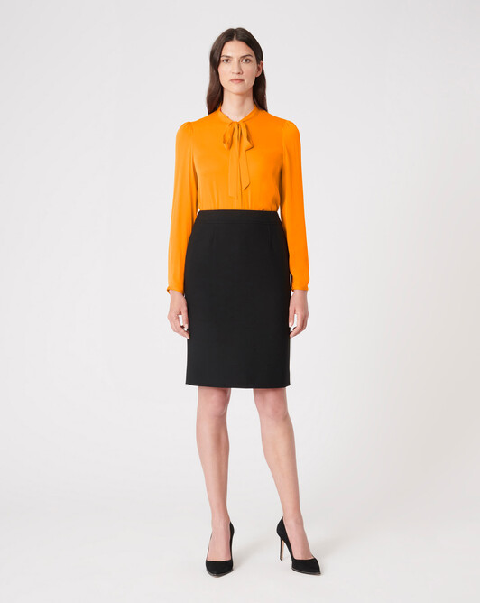Stretch-charmeuse shirt - Mangue