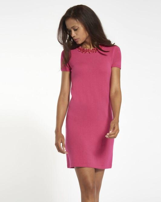 Cashmere wool dress - Fuchsia