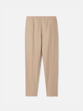 Pantalon en drap de laine - Beige