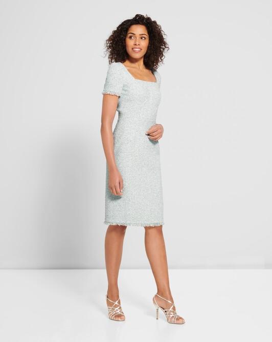 Tweed dress - Aqua