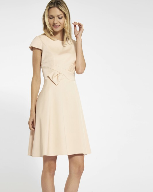 Dress in ottoman stretch - Pale pink