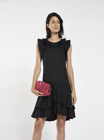 Robe en popeline de coton stretch - Noir