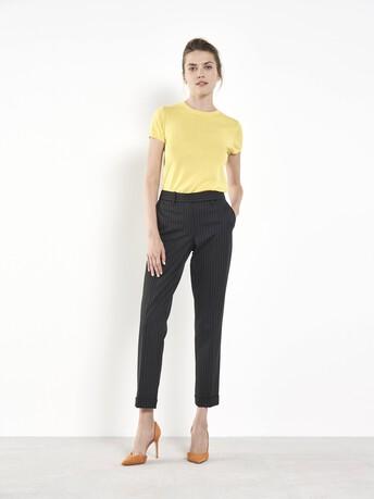 Pantalon en rayures tennis - Noir