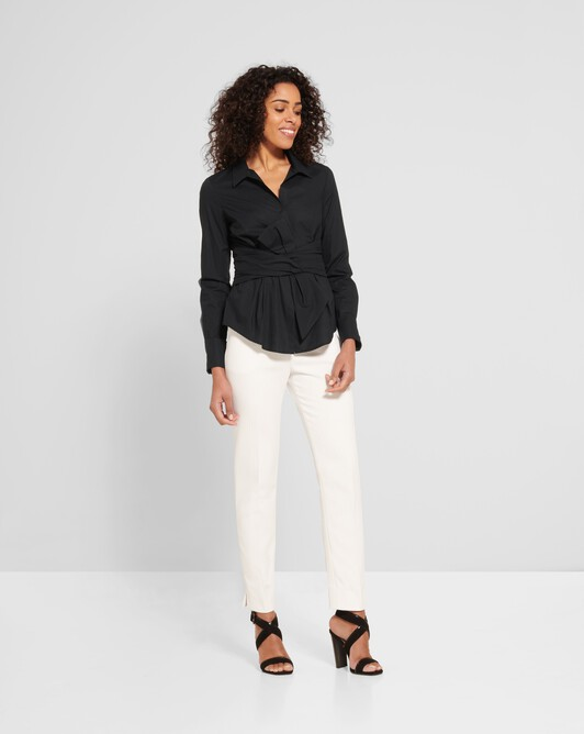 Cotton-poplin shirt - Noir