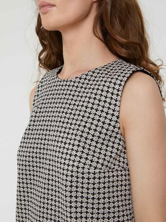 WOVEN DRESS - Noir / blanc