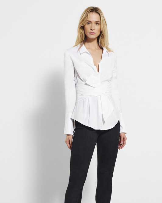 Cotton-poplin shirt - White