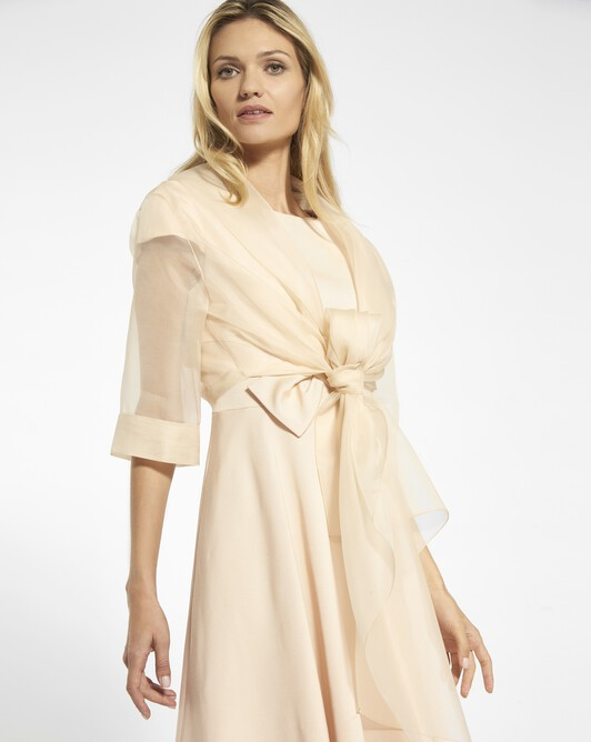 Jacket in organza - Pale pink