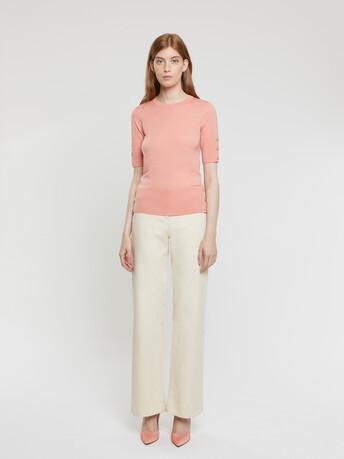 Merino-wool top - Eau de rose