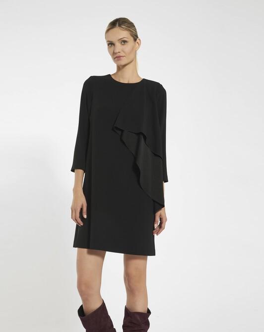 Dress in satin-back crepe - black