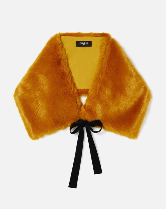 Faux fox fur wrap - Safran