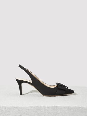 Escarpins en ottoman stretch - Noir