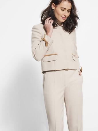 Stretch tricotine jacket - Mastic