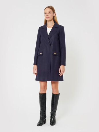 Wool coat - Navy blue