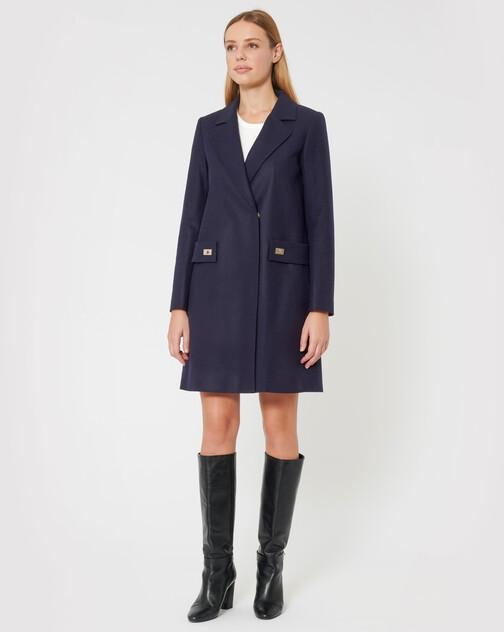 Manteau en drap de laine