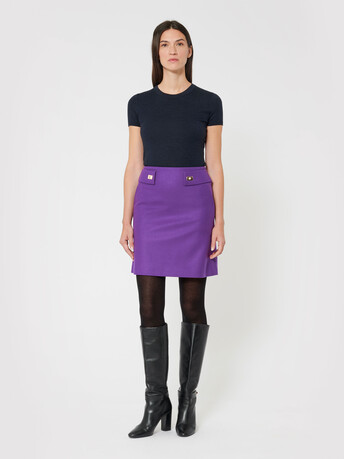 Wool skirt - Amethyste