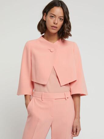 Satin-back crepe jacket - Eau de rose