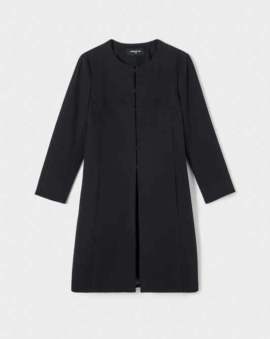 Cotton coat - Noir
