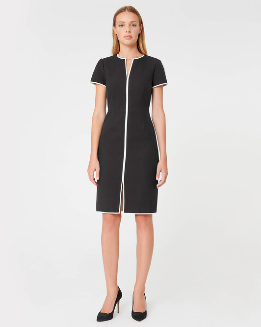WOVEN DRESS - Noir / sable