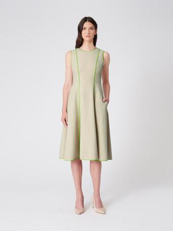 Two-tone cotton dress - Sable/bubble