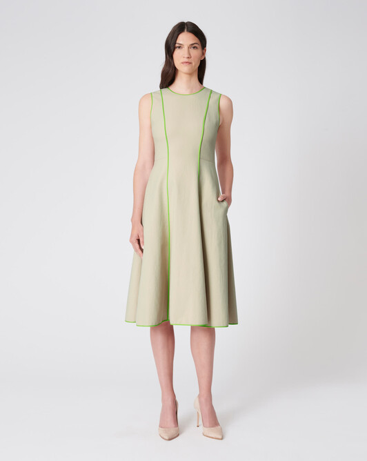 WOVEN DRESS - Sable/bubble