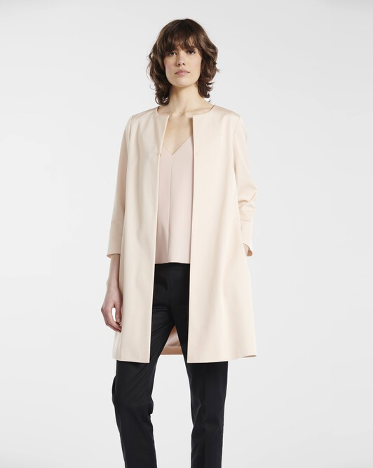 Coat in ottoman stretch - pale pink