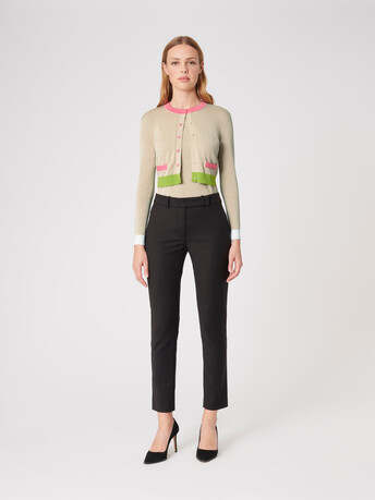 Silk and cotton cardigan - Sand