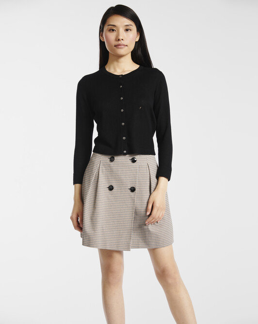 Cardigan in cashmere silk - Noir