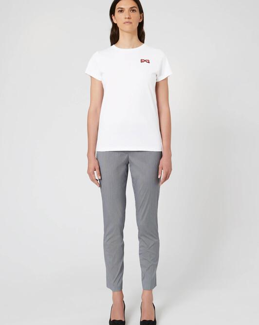 Pantalon en popeline vichy - Noir / blanc