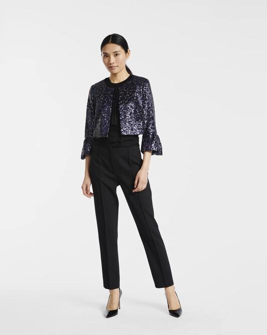 Pantalon en drill de laine - noir